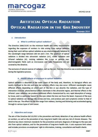 Optical radiation in the Gas Industry