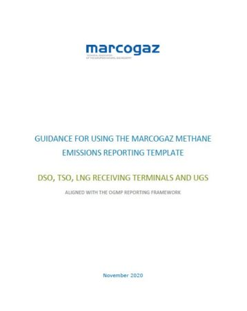 Guidance for the MARCOGAZ methane emissions reporting template - TSO-UGS-LNG receivingterminals-DSO